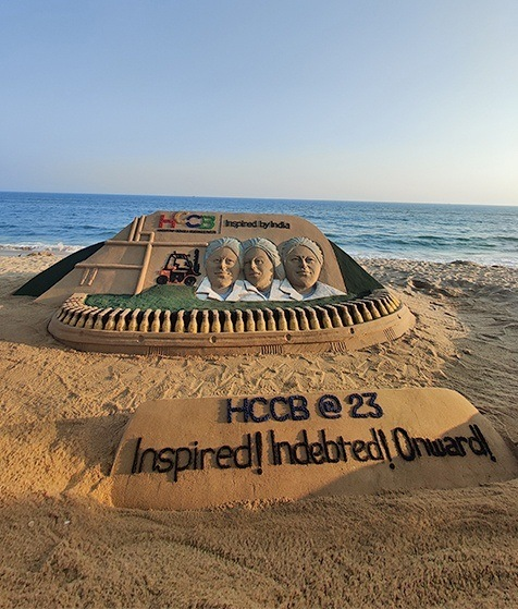 Sand sculpture marks HCCB's 23rd anniversary