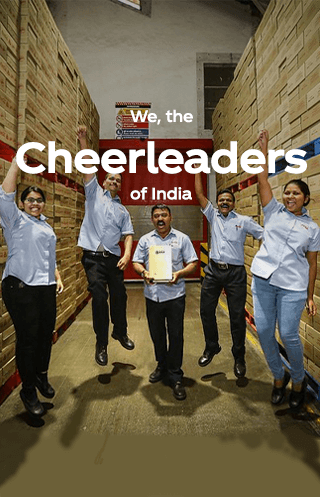We,   The cheerleaders  of India